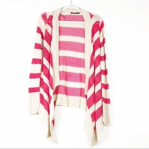 Say What open Cardigan Stripe Sweater size Large